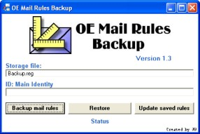 Outlook Express Mail Rules Backup